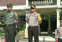 Bersinergi Tanpa Sekat, TNI Polisi Di Kediri Menggelar Apel Bersama
