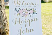 Wedding Signage / Invite your guests to eat, drink and celebrate in love with these wedding signs.