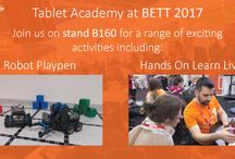 BETT 2017 / Join Tablet Academy and our numerous partners at this years BETT show for exciting Hands On Learn Live sessions ranging from Minecraft Education Edition to VR, and our brilliant Robot Playpen.