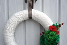 Christmas felt wreaths