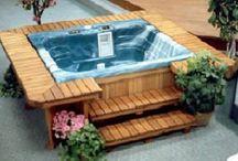 Back yard hot tub