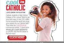 Cool2BCatholic / #Catholic High School, College and Film students! This is your chance to get your work seen in over 258 million homes around the world and show your passion for our Catholic faith. Check out the info on this page to find out more! https://c2bc.ewtn.com/#EWTN / by EWTN Global Catholic Network