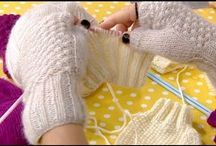 CROCHET HAT-FINGERLESS GLOVES
