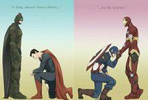 Superheroes slash
