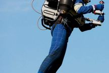 Personal jetpack flying / Different types of jet machines that allow men to fly like a bird