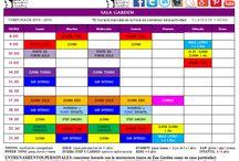 Nuestros horarios de ambas salas de Zen Garden Center / Horarios de todas nuestras clases