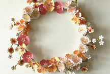Flower wreaths (The Paper Heart) / Paper flower wreaths and home decoration for Christmas, Thanksgiving, Easter, weddings and family celebrations. You can see my paper flower wreaths and floral wall decoration at ThePaperHeartDesign Etsy shop