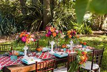 Fresh, Bright Weddings / Linens from www.linensbythesea.com