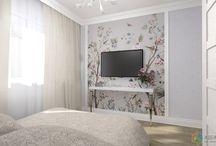 Скандинавский стиль -спальня