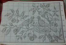 Вязание-филейные картины