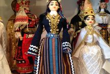 dolls in greek traditional costumes