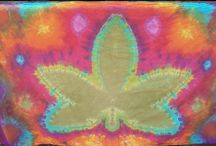 Cannabis Leaf Tie Dye Tapestries (A Series of 420)