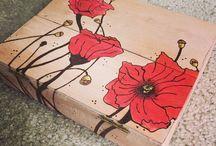 Watercolor wood box