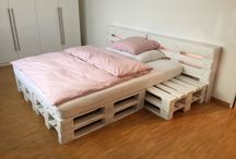Bett aus Paletten
