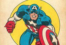 Vintage marvel and comics