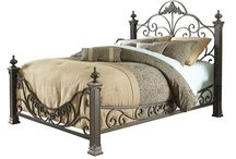 Metal Bed Frames- Basic to Beautiful / All types of bed frames, from twin to CA King, basic to fancy upholstered, canopy, loft style, trundle, bunk beds and more.
