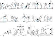tous le chemin de croix en image