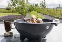 Outdoor tub or shower