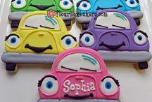 Sugar cookies/ vehicles