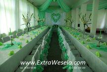 Dekoracje sal weselnych / Dekoracje sal weselnych, restauracji i lokali. Dekoracje tkaninowe, dekoracje balonowe i dekoracje z żywych kwiatów