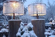 Outdoor lamp met kippengaas