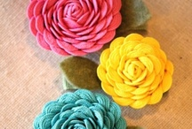 fabric flowers and bows for clothes  / by marlene west