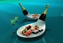 CHAMPAGNE / Cooling dish for champagne and food !!