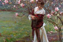donne e fiori