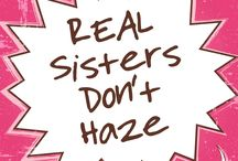#REALSistersDontHaze 2016 / National Hazing Prevention Week 2016 takes place next week, September 19-23. This year, we are sharing REAL answers from REAL sisters about hazing prevention. We ask that our members, Panhellenic sisters, friends and family join in by sharing, tweeting, pinning, reposting and snapping our campaign images and messing. Why? Because #REALSistersDontHaze.