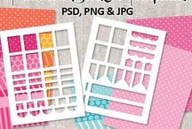 DIY Planner Stickers / DIY Planner Stickers. Commercial use planner sticker templates and more fun stuff!