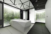 Zlote Tarasy Toilets 02 / Design of the interior for public toilets and corridors in SC Złote Tarasy, stage 02.