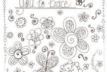 Doodles, zentangles / Inspiratie om lekker zelf aan de slag te gaan