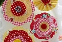 fabric flowers / by jesma archibald   (nutmegs)