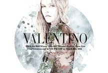 Creative Collaborations - Fall/Winter 2016 - 17 / Talented and eclectic illustrators participated in a open call launched on Instagram each one announces the Valentino Fall/Winter 2016-17 fashion show live on March 8th at 2:30PM CET on Valentino.com in a unique creative way.