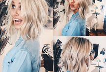 Hair ideas! blonde / highlights / lob / bob / bangs