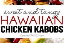 hawaian chicken kabobs