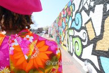 ✊Flower Power!: #60s #streetstyle #vintage spreading love with flowers and vintage colorful prints with the pop color mural landscape backdrops! Follow on FB @virlecole / Flower Power!: spreading love with flowers and vintage artful prints - @virlecole spring catalog #60s #hollywood glam #vintage #streerstyle