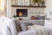 Fireplace Dressing / Inspiration for fireplace