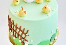 Taart boerderij / fondant farm cake