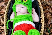 Christmas baby crochet set Santa Claus