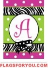 Zebra Stripe Monogram Flags