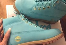 Coloured Timberlands! / Timberland boots with a colour twist!