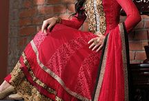 Designer Salwar Kameez / Designer Salwar Suit with thread embroidery