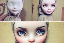 Doll painting