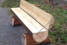 Sgabelli, panche, sedie in legno