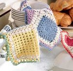 ❤ Crochet- Knitted Washcloth and potholders ❤