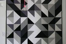 Black to White Quilt