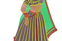Women Art Embroidery Design