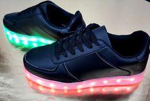 Dames Zwarte Oplaadbare Led Sneakers