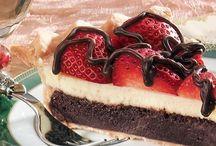 Snack food / Strawberry fudge pie